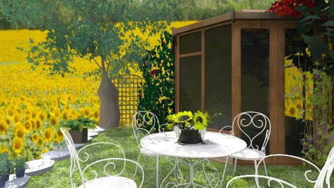 Sunflowers - Country - Garden - by hetregent