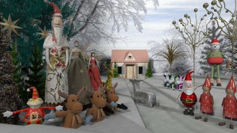 Christmas Little People - Classic - by Bibiche