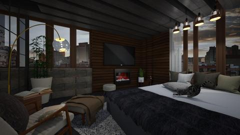 modern bedroom - Bedroom - by i l o n a
