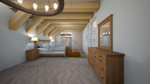 Haring Oak Master - Rustic - Bedroom - by With Ice Cream