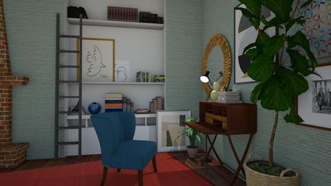 Eclectic Office  - Office - by SofiaL