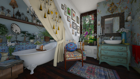 Bohemian Bathroom - Bathroom - by maja97