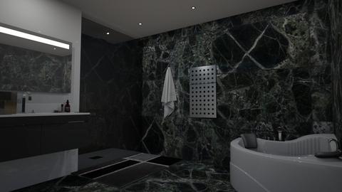Dark Bathroom - Bathroom - by luxury style