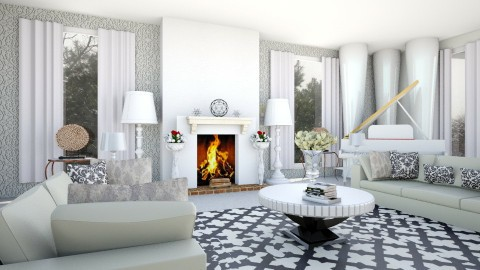 Dreaming In White - Living room - by stokeshannah