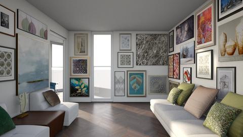 Art Collectors Home - Living room - by Vlad Silviu