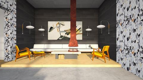 midcentury seating area - Retro - Living room - by kitty