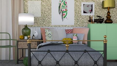Green with a touch of Pink - Classic - Bedroom - by HenkRetro1960