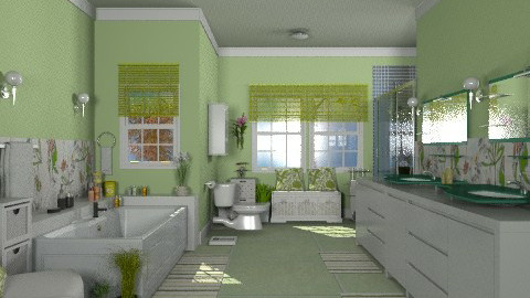Apple Green - Modern - Bathroom - by Bibiche