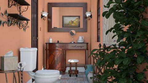 Powder Room - Vintage - Bathroom - by LNBR