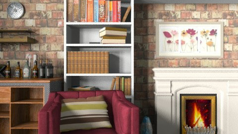 Cushion_bookish - Eclectic - Living room - by mydeco_Jo