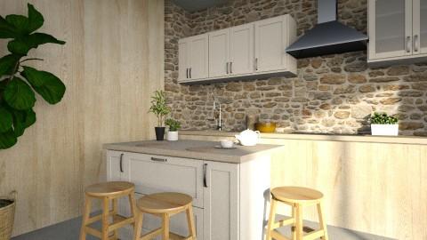 nature inspired kitchen - by jjannnii