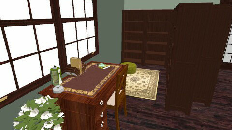library/office/study - Rustic - Office - by hazelguest