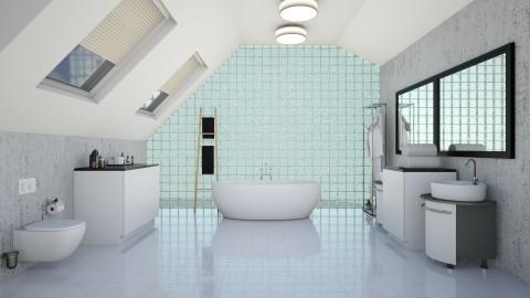 Marble Walls - Bathroom - by kelseyleigh3