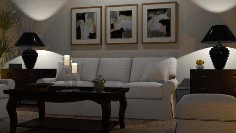 Light and Dark - Living room - by GraceKathryn