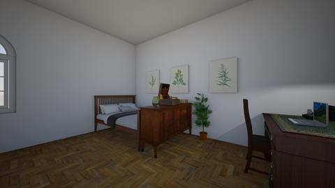 One - Rustic - Bedroom - by MarenE