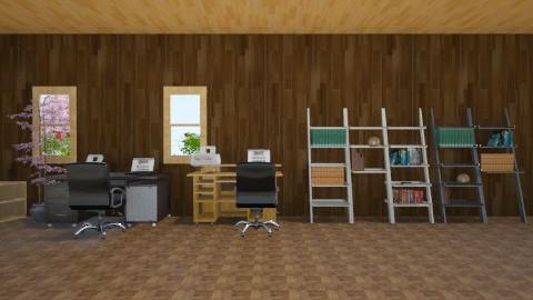 work office  - Vintage - Office - by omggirl67