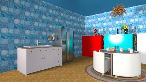 fresh kitchen  - Glamour - Kitchen - by Sarah Adnan