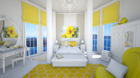 yellow dream - Vintage - Bedroom - by Senia N