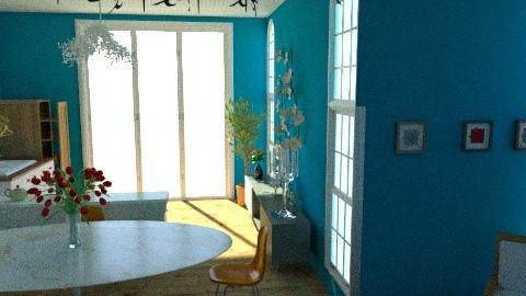 blue - Vintage - Kitchen - by Melinda Maczucza