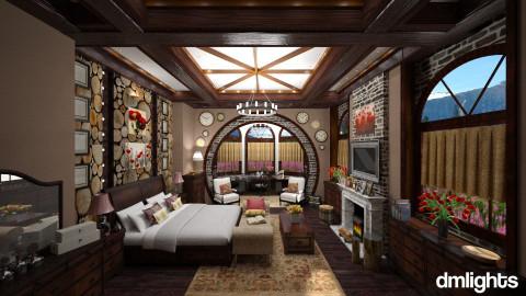 Rustic - Rustic - Bedroom - by DMLights-user-1025330