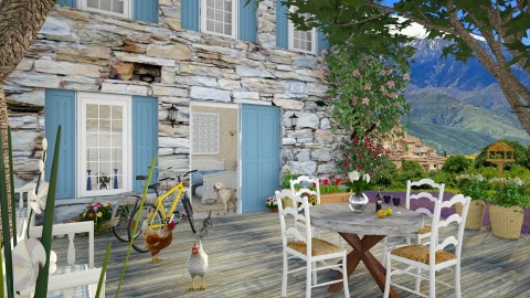 Design 119 Provence Bed and Breakfast - Garden - by Daisy320