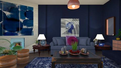 Indigo here  - Living room - by Tree Nut