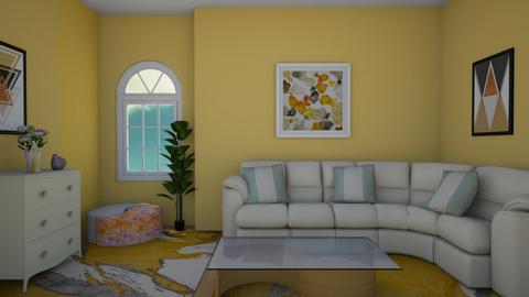 Yellow  and  White - Living room - by Ana Angela