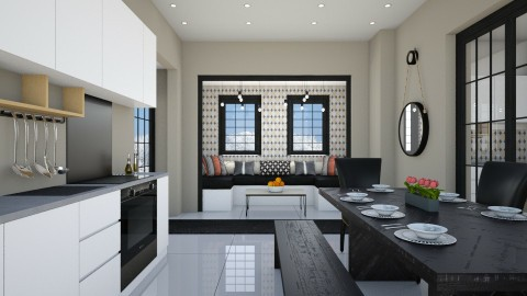KITCHEN NOOK - Modern - Kitchen - by hannahglass