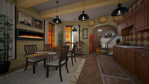 warm kitchen - Classic - Kitchen - by kla