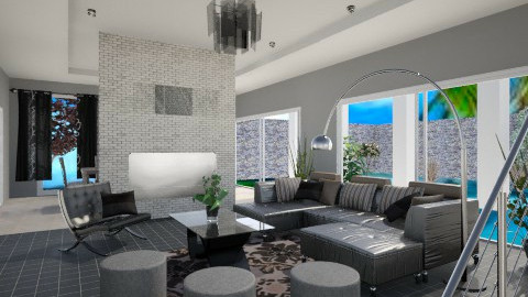 Modern black... - Modern - Living room - by ines_sokol