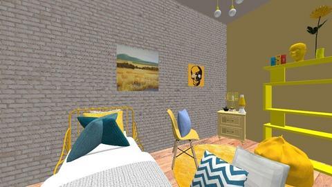 the bedroom thats yellow - Bedroom - by lcornelius26