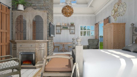 Guest House - Country - Bedroom - by starsector