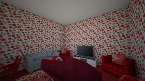 red - Living room - by Isaiahfranzen
