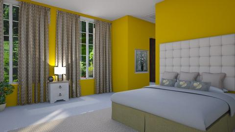 Yellow bedroom - Modern - Bedroom - by Sue Bonstra