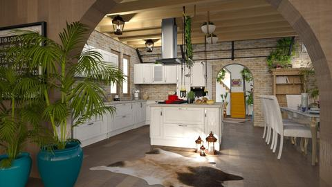Urban Jungle Kitchen - Kitchen - by matina1976