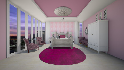 Peace in the city bedroom - Glamour - Bedroom - by erialc3000