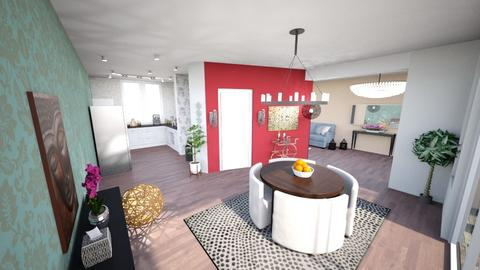 Living room and kitchen - by Black Dahlia Interiors