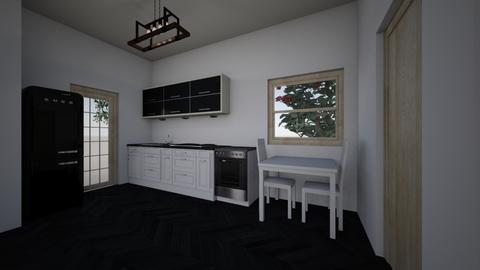 simple house kitchen - Modern - Kitchen - by Brina Yunio