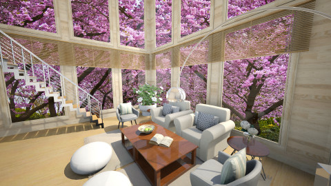 Mountain spring - Retro - Living room - by shannonhu