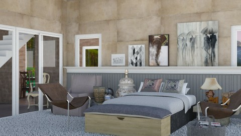 Elephant In The Room - Modern - Bedroom - by InteriorDesigner111