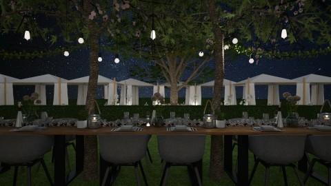 garden party table - Garden - by StienAerts