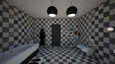 Husbands bathroom vu2 - Classic - Bathroom - by kitty