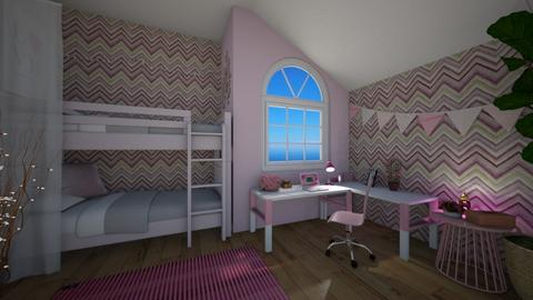 Twin Haven - Bedroom - by nellica