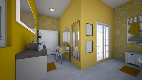 Yellow Mellow - Bathroom - by Nikki Lipstick