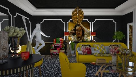yellow chair - Eclectic - Living room - by soralobo