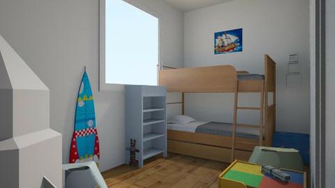 Twin Little Boy Room - Kids room - by KennediJenson
