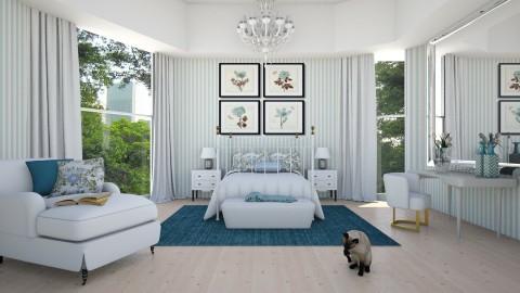 Suave azul - Bedroom - by Sanare Sousa