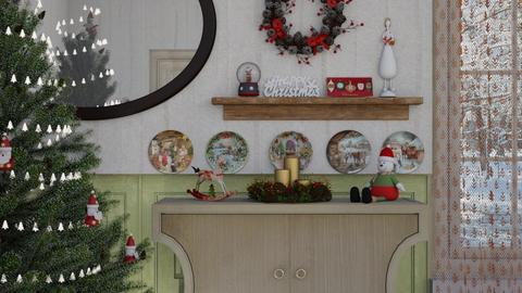 christmas wall - Classic - Living room - by donella