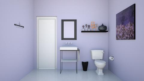 Purple Bathroom - Bathroom - by Abigail Enloe