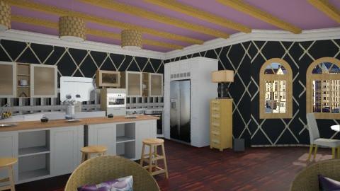 Purple Beige Kit - Modern - Kitchen - by Puppy Chow